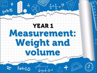 Year 1 – Spring – Week 10 – Measurement: Weight & Volume
