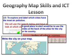 Geography Map Skills ICT Pollution Lesson by andrewchown - Teaching ...