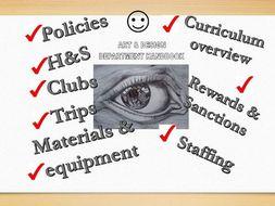 Art & Design Department Handbook and KS3 4 & 5 curriculum overview