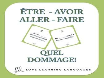 GCSE FRENCH: Être, Aller, Avoir, Faire - Quel Dommage Game