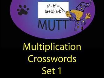Pooch Puzzles: Multiplication Crosswords Set 1