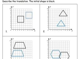 Translating Shapes Activity + Extension