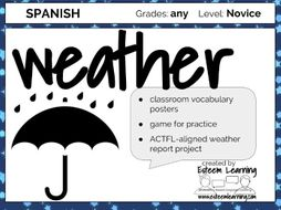 Weather Practice Spanish