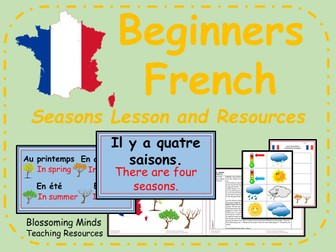 ks2 french unit seasons dates and weather by blossomingminds teaching resources. Black Bedroom Furniture Sets. Home Design Ideas