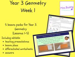 Year 3 Geometry: Properties of Shape Week 1