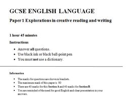 NEW AQA GCSE English Language Paper 1 practice papers
