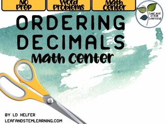 Ordering Decimals Center Activity