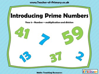 Introducing Prime Numbers - Year 5