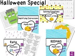 BUNDLE Maths Halloween Special