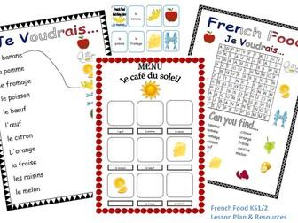 French Food Lesson KS1/2
