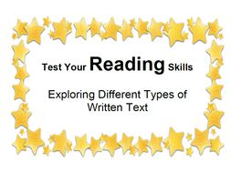 Test Your Reading Skills Exploring Different Types of Written Text