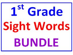 First Grade Sight Words BUNDLE (16 Worksheets)