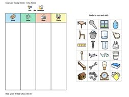Widgit Materials Sorting Activity By Widgit Software