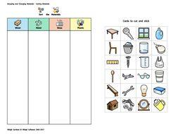 Widgit - Materials Sorting Activity