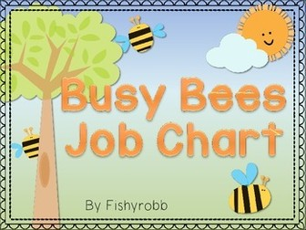 Busy Bees Classroom Jobs Chart