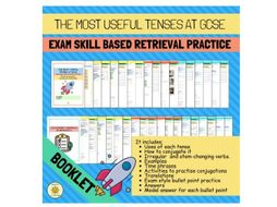 The most useful tenses at GCSE. Exam skill based retrieval practice. Spanish Curriculum recovery