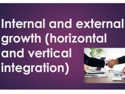 Horizontal and Vertical Integration (Business Growth)