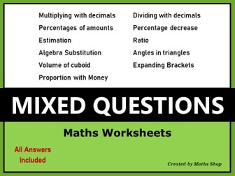 Revision - Mixed Questions GCSE
