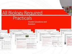 Biology Required Practical Worksheets with Graded 9-1 Exam Style Questions and Answers