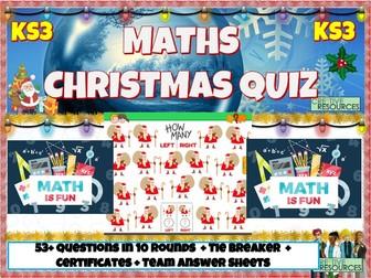 Maths Christmas Quiz 2020