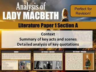 Lady Macbeth - Revision - Whole lesson PowerPoint