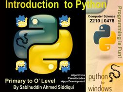 Introduction to Python 3.5/6 | Primary to O' Level Series 8
