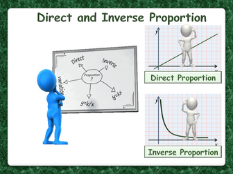 Direct and Inverse Proportion - animated PowerPoint - GCSE