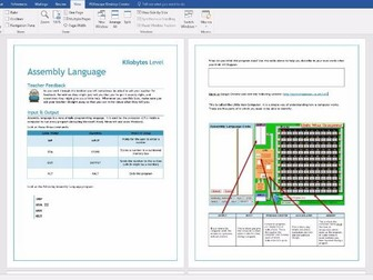 3 x Differentiated Workbooks on Little Man Computer