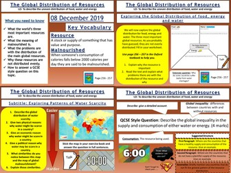 Resource Management: The Global Distribution of Resources