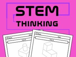 Composite 3D Shapes Drawing Skills Worksheets, Art, STEAM