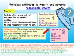 Wealth + Poverty : AQA RE