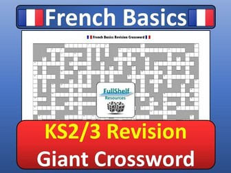 French Revision Crossword