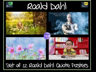 Set of 12 Roald Dahl Quote Posters - Ideal for Roald Dahl Day and World Book Day
