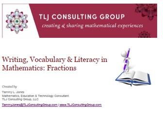 Writing, Vocabulary & Literacy in Mathematics: Fractions