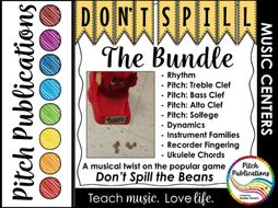 Music Center: Don't Spill the MUSIC BUNDLE! Pitch, rhythm, dynamics, & more!