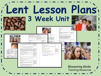 Lent Lesson Plans - three week unit