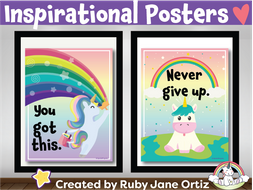 Inspirational Posters Classroom Decor For Back To School Bulletin