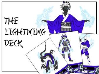 BATTLING GRAMMAR - The LIGHTNING Deck for the exciting, KS2 grammar card game