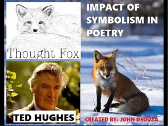 THE THOUGHT FOX BY TED HUGHES - ANIMAL POEM - UNIT PLANS