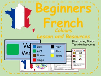 French lesson and resources - KS2 - Colours