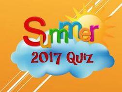 Summer 2017: Quiz