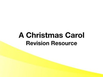 A Christmas Carol - Differentiated Revision