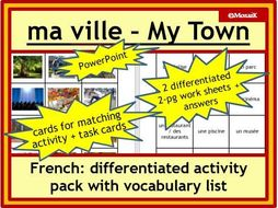 French ville town, places, activities