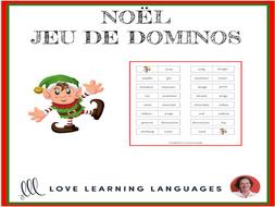 French Christmas - Noël - Jeu de Dominos