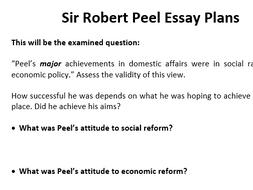 A-Level Essay Plans - Robert Peel