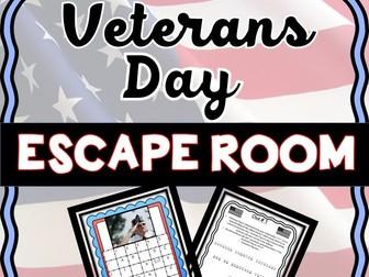 Veterans Day Escape Room: U.S History