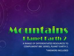 Planet Earth 2 : Mountains : Activity pack