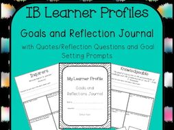 Learner Profile Student Reflection Journal