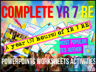 Complete Year 7 RE (in one download)