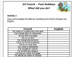 french past holidays worksheets by roisin teaching